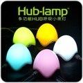 Criativo USB Hub-Lâmpada Respiração Multifuncional Divisor USB Night Light Lamp Hub USB Respiração Pequeno Night light LED Pat luzes