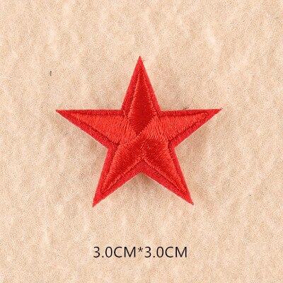 1 шт. смешанные нашивки со звездами для одежды, железная вышитая аппликация, милая нашивка эмблема на ткани, одежда, аксессуары для одежды DIY 61 - Цвет: 61C