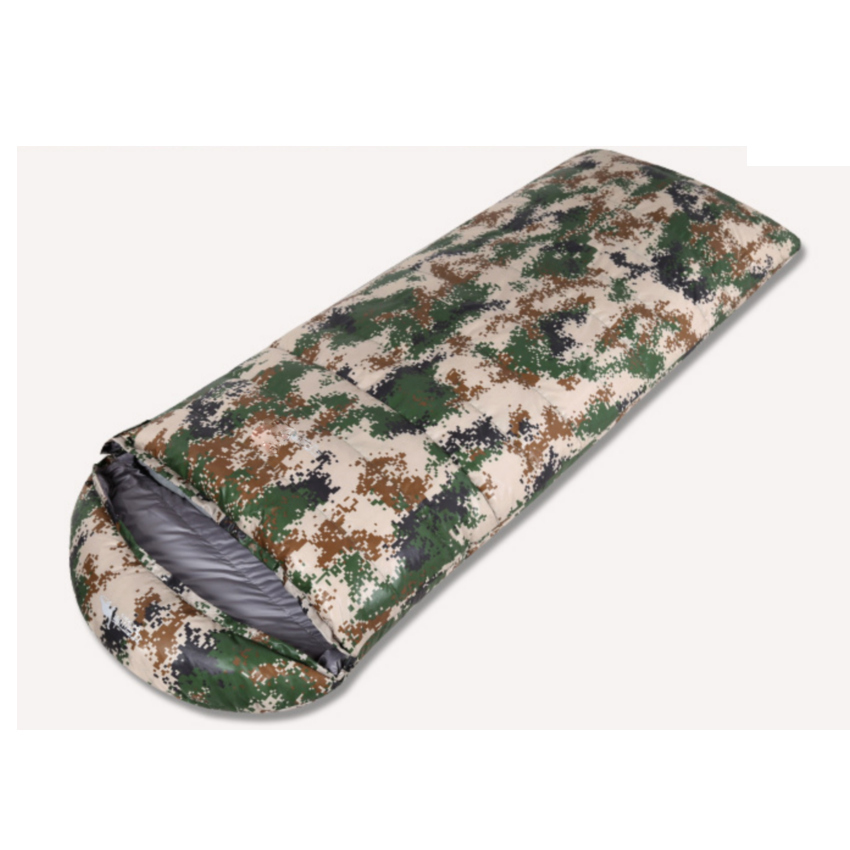 Camouflage Envelope Type Duck Down Sleeping Bag Portable Travel Sleep Sack Camping Travelling Hiking Outdoor Sleeping Gear