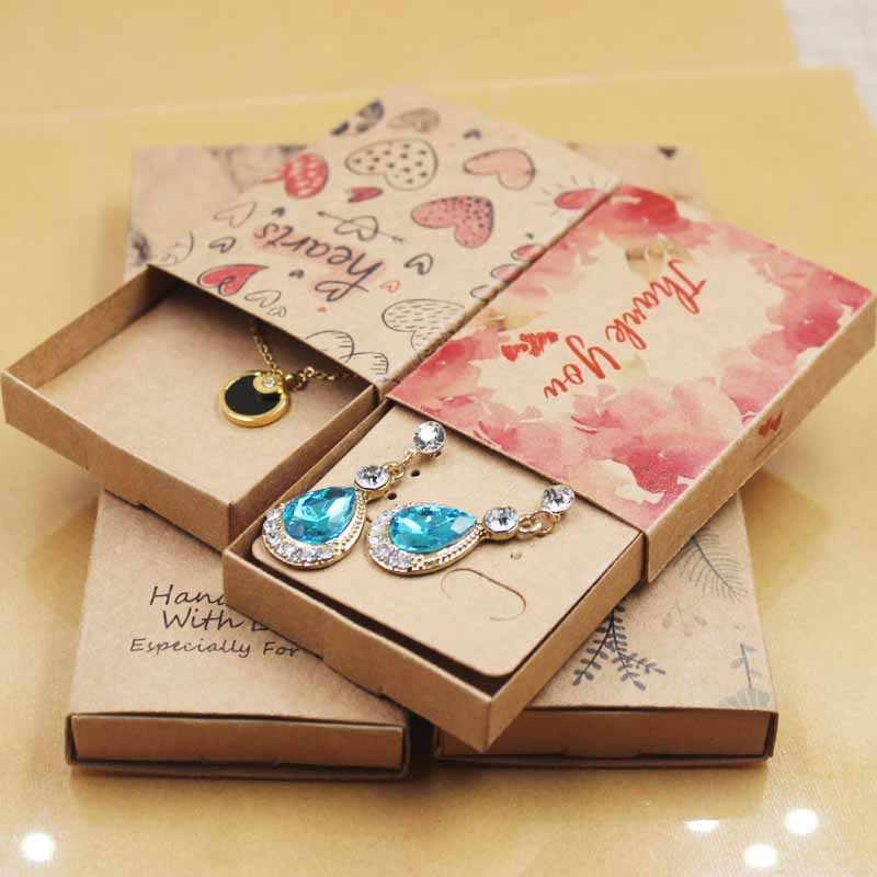 DIy мульти Подарочная коробка ручной работы Любовь Свадебная коробка ювелирные изделия «Ловец снов» ожерелье кулон коробка серьги коробка 12 шт + 12 внутренних карт в партии
