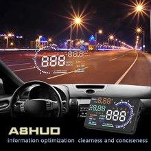 "A8 5.5 ""Hud Head Up Display OBD II EOBD 2 Coche parabrisas Proyector Montados En Vehículos Head Up 4E X6 X5 S7 H6 E300 Q7"