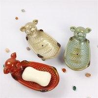 Household articles home decoration home decoration crafts decorative bowl plate Soap plate decoration ceramic cute model