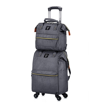 luggage portable trolley travel backpack trolley bagwith wheels women Handbag lightweight large capacity suitcase Carry-on bags