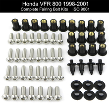 Для Honda VFR800 1998-2007 мотоцикл Полный Обтекатель болтов Комплект из нержавеющей стали обтекатель зажимы гайки