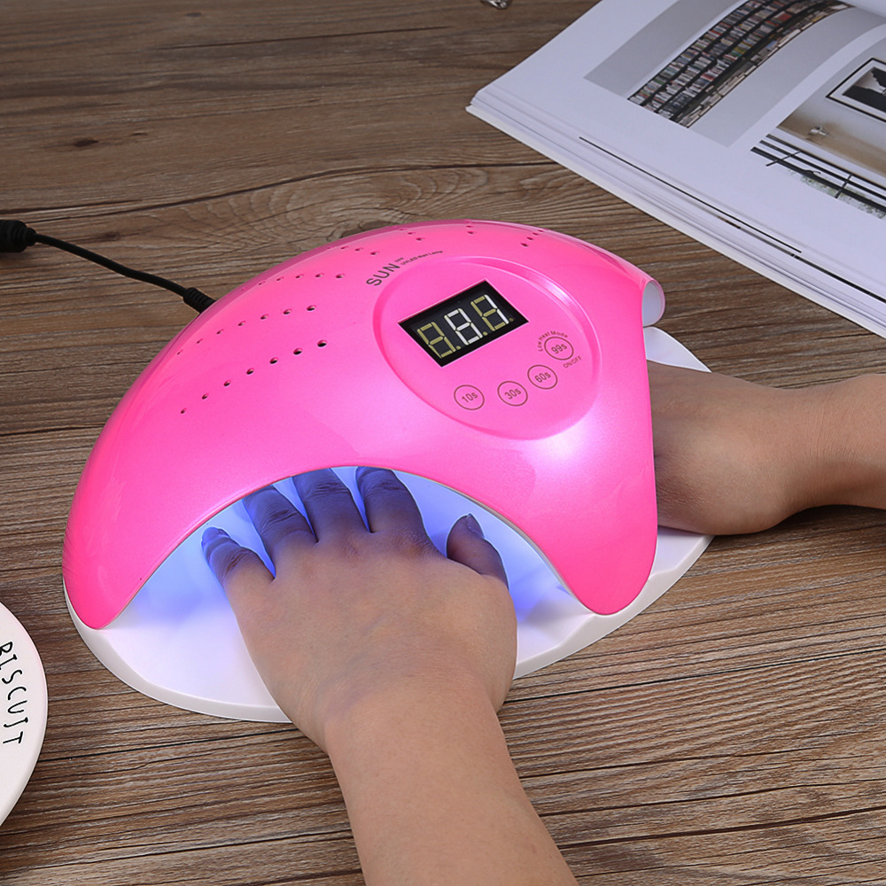 3 Colors SUN669 48W UV LED Lamp Nail Dryer Gel Nail Polish Lamp Dryer Manicure Curing Machine Nail Art Tool with 24pcs Led Light sunuv sun4 48w professional uv led nail dryer lamp gel polish nail dryer manicure tool for curing nail gel polish nail drill set