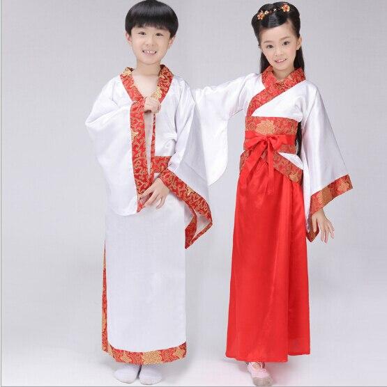 Chinese Ancient Kids Girl Boy Hanfu tang Costume Dynasty Princess Cosplay Dress