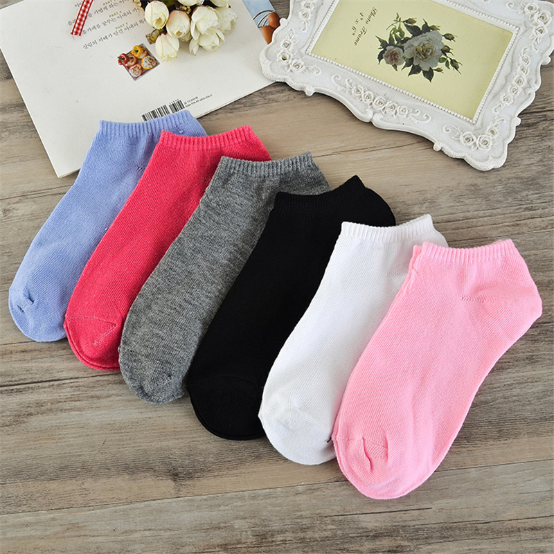 One Pair Womens Comfortable Solid Boat Socks Cotton Fashion Mesh Casual Sock Ladies Soft Short Ankle Socks D0224