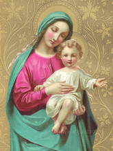 Diamond Embroidery 5D DIY Painting Religious Virgin Mary & Son Cross Stitch Rhinestone Decoration Gifts