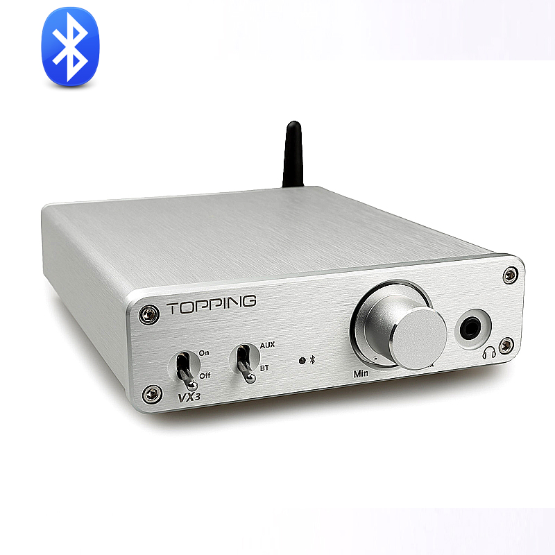 New Topping VX3 TPA3116D2 30W *2 Class D Hifi Digital Audio Power Amplifier Wireless Bluetooth 4.0 Mini Home Headphone AMP topping vx3 amp hifi power stereo amplifier 35w 2 class d digital audio headphone wireless bluetooth 4 0
