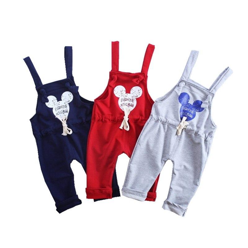 2019 Spring Autumn Brand Cotton Cartoon Pattern Children Boys Girls Fashion Leisure Camisole Pants 0 4 Years