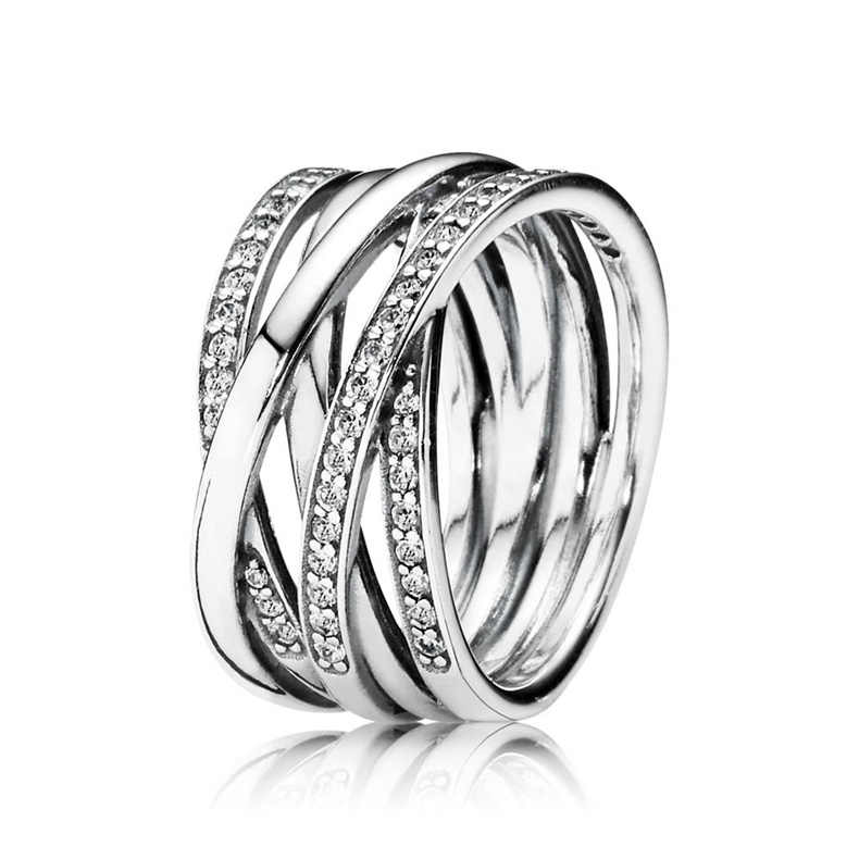 86354bae0 ... 30% 925 Silver Rose Gold Entwining Rings With Crystal For Women Wedding  Party Gift Fine. RELATED PRODUCTS. New 925 Sterling Silver Ring ...