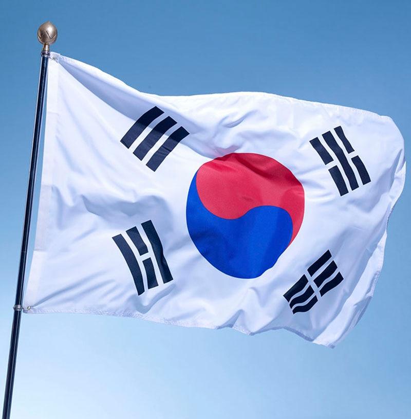 Large South Korea Flag Polyester The Korean National Banner 3x5ft Taegeukgi Parade/Festival/Home Decoration New Fashion