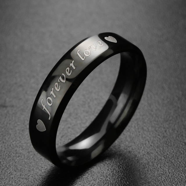 9291c4d2bc placeholder 1 Pcs Simple Steel titanium Forever love Couple Rings Wedding  Band His and Her Promise Rings