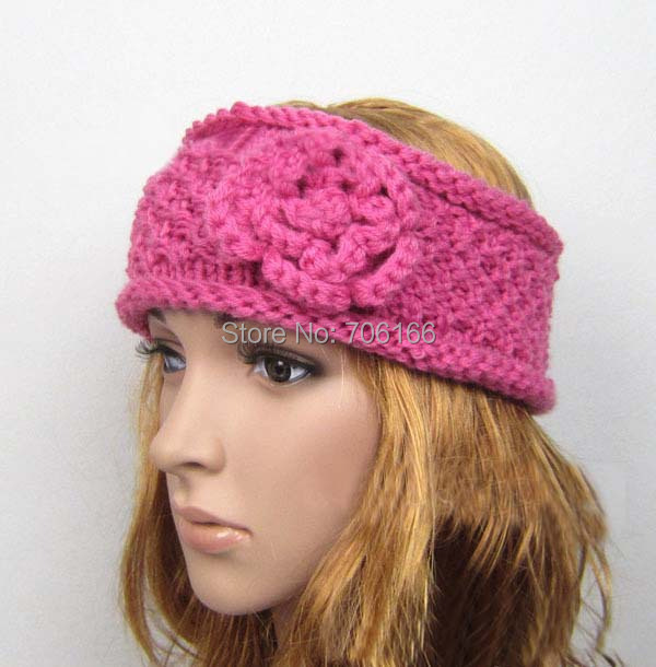 Más nuevas mujeres crochet la venda del pelo, de punto diadema ...