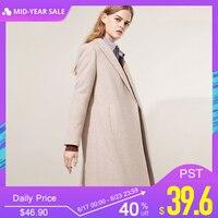 Только 2019 весна лето новые женские двубортные шерстяные пальто | 118427502
