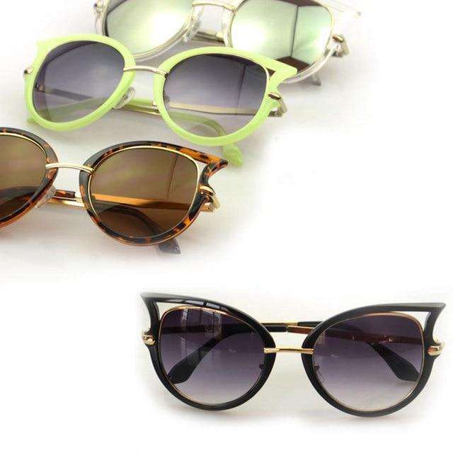 42bea75bc 5 Colors Star Style Cat Eye Frame Coating Glasses Hot New Vintage Fashion  Summer Sunglasses Women Brand Designer oculos de sol