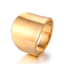 hot deal buy never fade 18 k gold plated stainless steel ring wholesale fashionable men and women