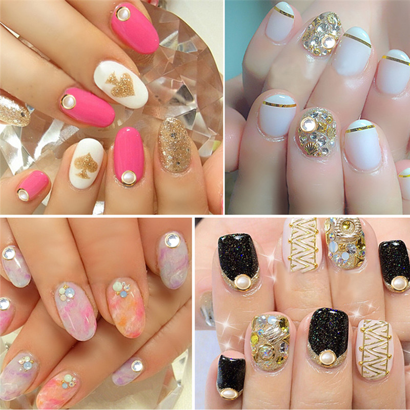 Yaoshun Brand Diy Nail Art Pearl Rhinestones Hot 12colors Diamond Decoration 1000pcs