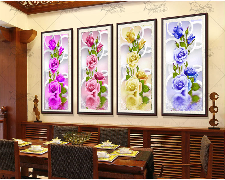 2017 Rushed Sale Diy 5d Full Diamonds Broderi Peony Flowers Round Diamond Måla Cross Stitch Kit Mosaic Home Decoration