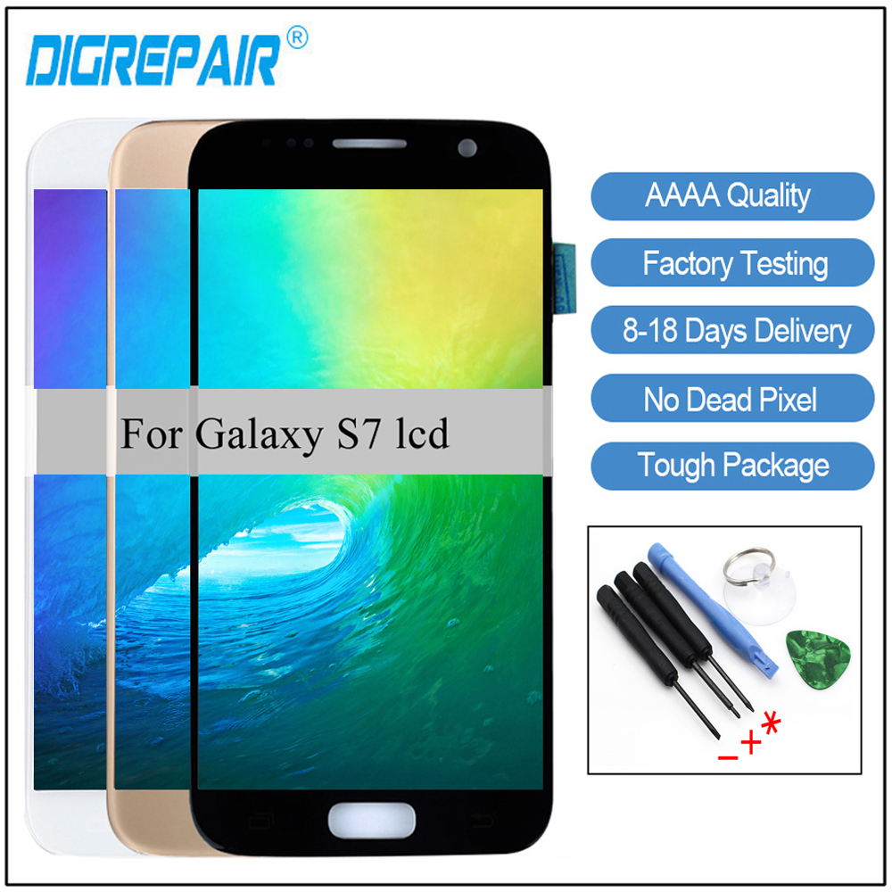 Samsung Screen Us 35 For Samsung Galaxy S7 Lcd G930f G930a G930p G930t Lcd Display Touch Screen Digitizer Display For Samsung S7 Lcd Screen In Mobile Phone Lcds