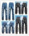 Новый kk-кролик зимние дети теплая джинсы мальчиков camoFleece джинсы теплые джинсы девочка брюки