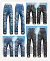 New kk-coelho crianças inverno quente calças de brim do bebê meninos calças de brim grosso quentes crianças jeans para calças menina miúdos camoFleece