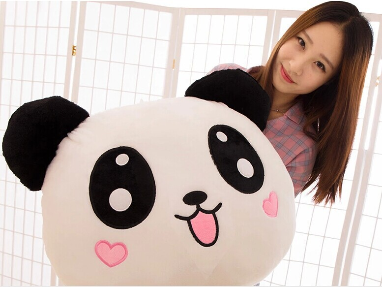 stuffed toy , 120 cm prone Panda plush toy smiley panda doll hugging pillow birthday gift w0596 new lovely plush panda toy stuffed sitting panda doll gift about 60cm