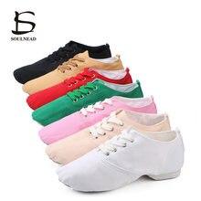 New Canvas Women Men Jazz Dance Shoes Soft Bottom Kids Girls Ballet Dancing Shoes 8 Colors Teacher's Lace-up Pointe Dance Shoes