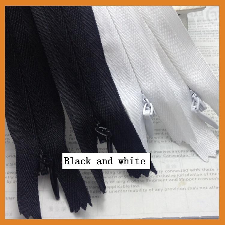 Смешанные 2 цвета 20 шт нейлоновая Подушка на молнии невидимая молния ультра длинная 40 см скрытая молния для шитья ручной работы/аксессуары для одежды - Цвет: Mix black and white