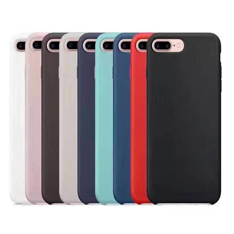 Luxus Plain Handy Fällen Für iPhone 7 7 Plus/8 8 Plus Weiche TPU Telefon Shell Silikon Weichen abdeckung Telefon Fall Abdeckung 20 Farben