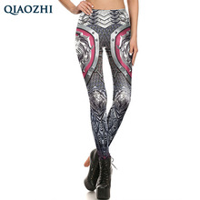 QIAOZHI Sexy Fashion Women Skeleton Skull Chain Gothic Comic Armor Cosplay Leggings Women Print Workout Fitness Pants
