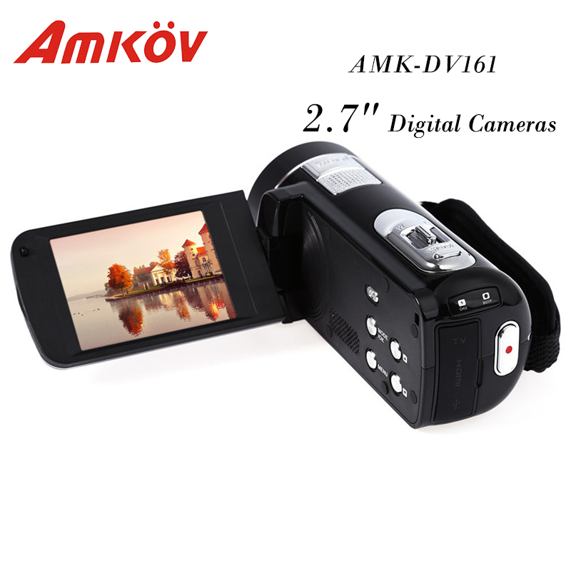 AMK-DV161 Digital Cameras 2.7 TFT 24MP 720P SD Card DV Video Camera Professional Compact Camera HD Camera Fotocamera Digitale