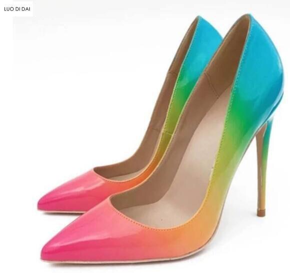 Tacón 12cm Nuevas Las 8cm Básica Mujeres Cuero 12cm Iris Color La 8cm Bombas Mezcla Boda Zapatos De Vestido Fino Arco Fiesta PTTdRrqZ