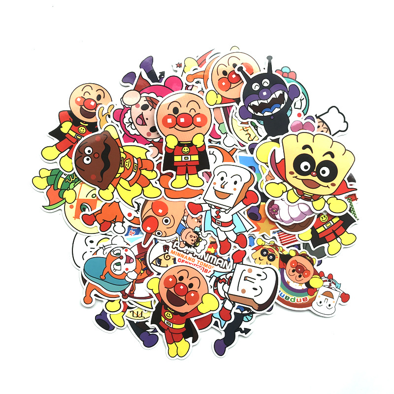 TD ZW 57Pcs Cartoon Anpanman Stickers Waterproof Decal Laptop Motorcycle Luggage Snowboard Fridge Phone Car Sticker