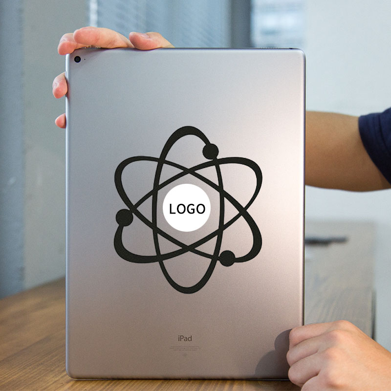 Atom Structure Vinyl Laptop Sticker for Apple iPad Decal Air / 1 /2 / 3 / 4 / Mini Surface Book Tablet PC Skin Notebook Sticker