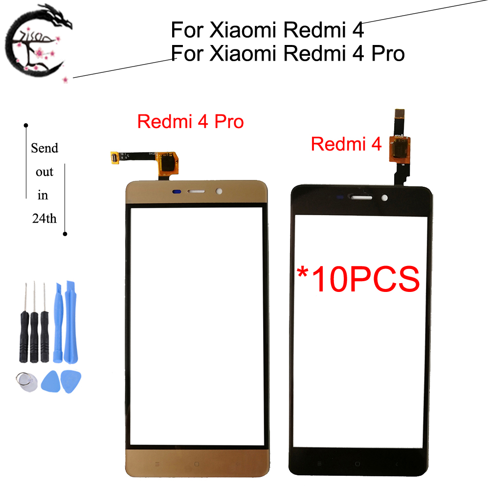 10PCS Touch Panel For <font><b>Xiaomi</b></font> <font><b>Redmi</b></font> <font><b>4</b></font> <font><b>pro</b></font> Digitizer Screen Outer Glass Touch With FPC Flex Cable <font><b>Redmi</b></font> <font><b>4</b></font> Sensor Touch <font><b>Touchscreen</b></font> image