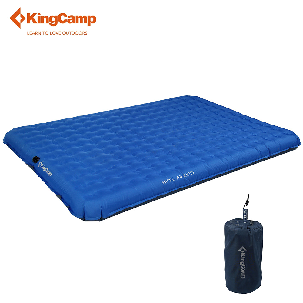 KingCamp Sleeping Pad Ultralight Tent Mat Portable Self Inflating Camping Mattress Damp-proof for Trekking Outdoor цены онлайн
