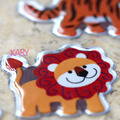 Высокое Качество Скрапбукинг Emoji Вознаградить Детей Малыша Животных Panda Лев Тигр Слон Жираф Блестящий Блеск Пузырь Тучный Стикер