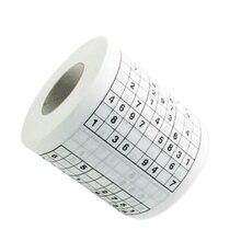 Nuevo llega 2 capa 10 cm Material de pulpa de madera creativo divertido  juego de Sudoku papel higiénico rollo juego tejido Facia. df0790c800b9