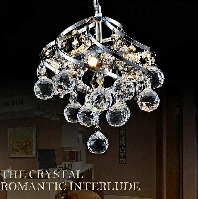 250mm moderne de luxe luminaire K9 cristal suspendus fil boule pendentif lumière plafond salon lustre E14 LED ampoule lampe éclairage