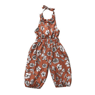 New 2017 Cute Kids Baby Girl Strap Romper Jumpsuit Harem Pants Trousers Overall Clothes Outfit 2016 girls kids harem pants short trousers chiffon heart pattern jumpsuit sleeveless blue orange jumpsuit