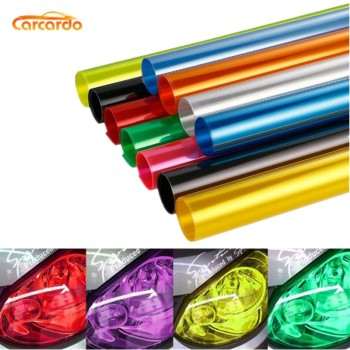 Carcardo 40cm x 200cm Car Headlight Taillight Tint Vinyl Film Sticker Car Smoke Fog Light Viny Stickers Decals Car Styling car styling decoration 1pc 12x78 chameleon clear car headlight tail fog light vinyl tint film wrap uv protector
