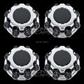 Conjunto De 4 CHROME Wheel Hub Center Caps Cubierta Emblema Negro ForGMC Sierra Silverado Avalancha CHEVY 8 Lug 2500 3500