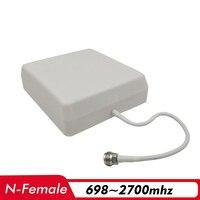 700 ~ 2700 MHz 8dBi ربح داخلي لوحة الهوائي N-الإناث 0.3 m هوائي داخلي ل 2G 3G 4G إشارة الداعم هاتف محمول مكرر إشارة