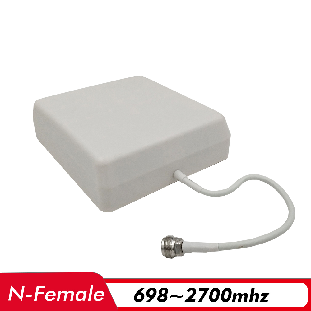 700~2700MHz 8dBi Gain Indoor Panel Antenna N-Female 0.3m Internal Antenna For 2G 3G 4G Signal Booster Cell Phone Signal Repeater