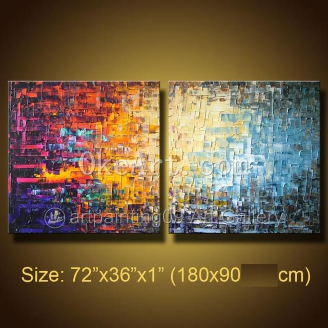 Handmade modern Contemporary Abstract Landscape Oil painting palette ...