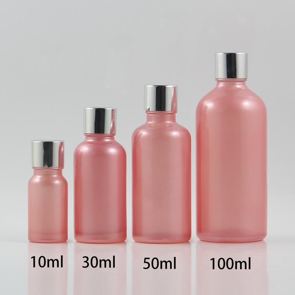 pcs atacado 1 50 oncas de rosa cor recipiente de oleo essencial de vidro fosco com