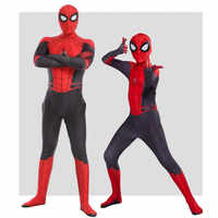 Hot New Movie Spider Man Far From Home Tights Cosplay Costumes Adult Children Jumpsuits Halloween Party Clothing Marvel Gift