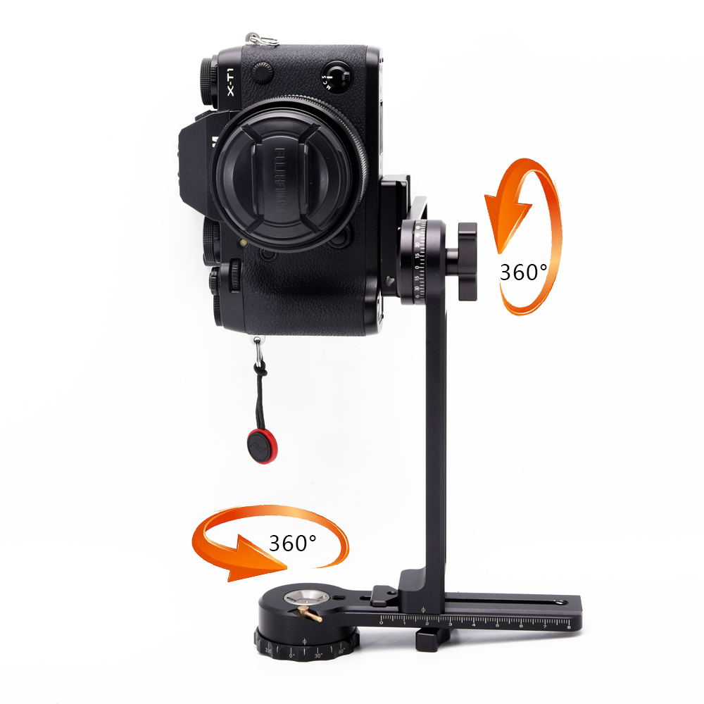 лучшая цена 360 degree Full Spherical Camera QTVR Tripod Panoramic Panhead Pan/Til Head Gimbal Bracket Kit For Canon Nikon