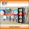 For Kubota V2203 V2203M V2203T V2203DI piston cylinder liner piston ring V2203 full gasket kit valve set bearing
